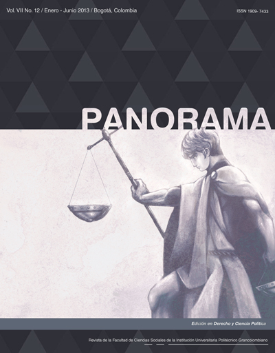 Panorama 12. Volumen VII. Enero-Julio 2013 / Bogotá, Colombia.